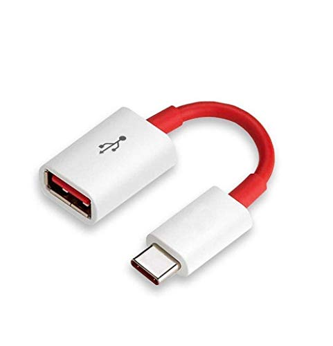 Halu USB Type C to USB 3.0 Type A Female Adapter Cable for Mi A2 (Mi 6X) | Red & White