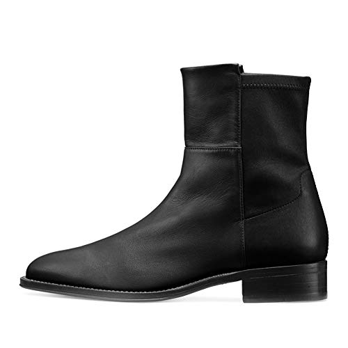 Boots Femme PU Bottine Femmes Basse Cuir Bottes,MWOOOK-20 Chelsea Chic Grande Taille Talon Chaussures