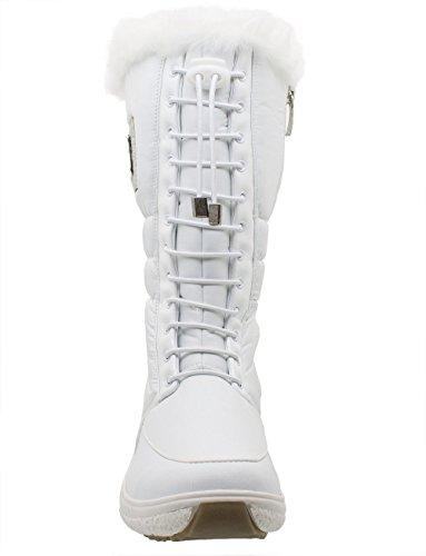 Kefas - Klara 3225 - Bottes de neige Femme Blanc