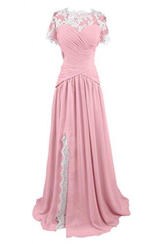 Sunvary lungo elegante gioiello in raso abito da sera sera Mother's Dress Rosa