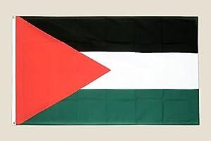 Gifts 4 All Occasions Limited SHATCHI-1043 - Bandera de Palestina en Oriente Medio, 150 x 90 cm, diseño con texto en inglés, multicolor