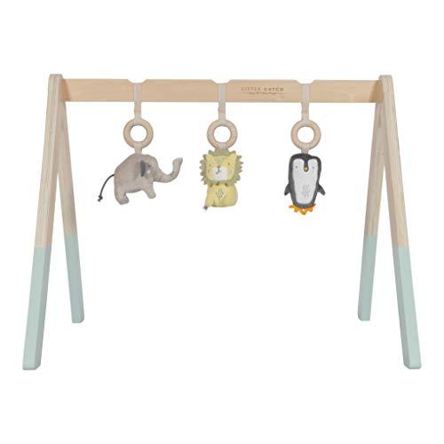 Little Dutch Holz Babygym Spieltrapez mit Spielzeug , Mehrfarbig,  48 x 60 x 52 cm (LxBxH)