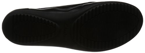 Clarks Feya Bloom Smart Casual scarpe da donna in pelle nera Nero