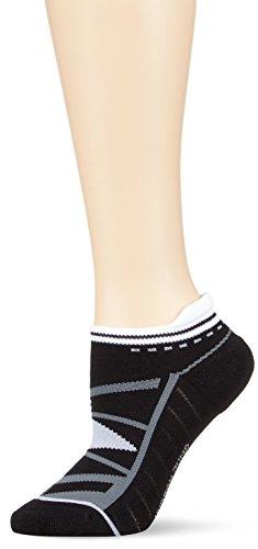 Hudson JUMP Damen-Socken, Baumwollsocken Damen gepolstert, atmungsaktive Socken Damen mit Wohlfühlbund (sportlich, schwarz), Menge: 1 Paar