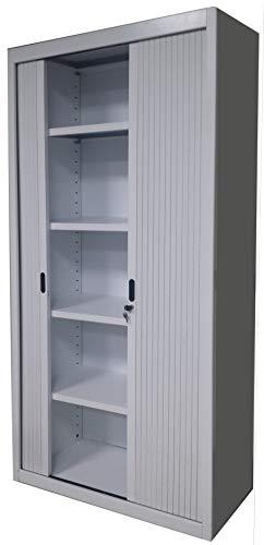 Armario Metalico de Persiana Blanco Dim 100x45x200h cm