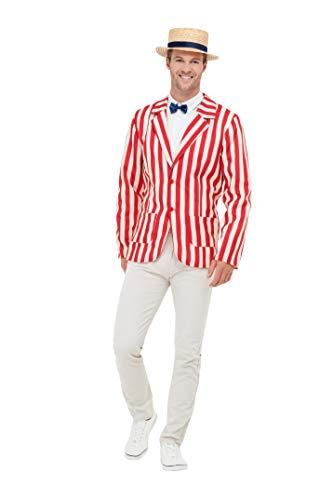 Smiffys 50725XL 20er-Jahre-Kostüm, Herren, Rot & Weiß, XL - Größe 116-122 cm (20er Jahre Herren Kostüme)