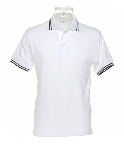 Kustom Kit -  Polo  - Donna White Navy stripe