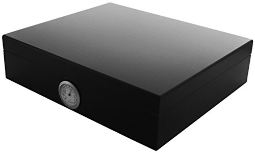 GERMANUS Sigari Humidor 'Movel' Con Igrometro e Umidificatore e GERMANUS Manuale Nero