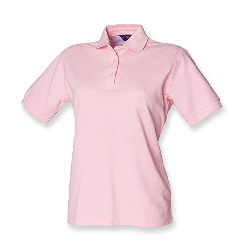 Henbury ladies classic polo in pink L/14