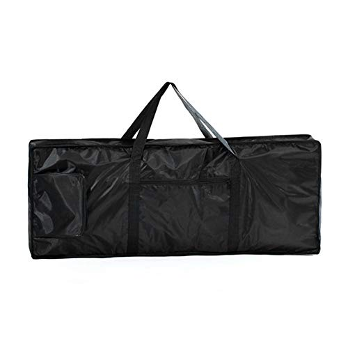 Borsa per tastiera a 76 tasti, impermeabile, nera, borsa da viaggio, imbottitura in schiuma, resistente a strappi e acqua, cinghie regolabili