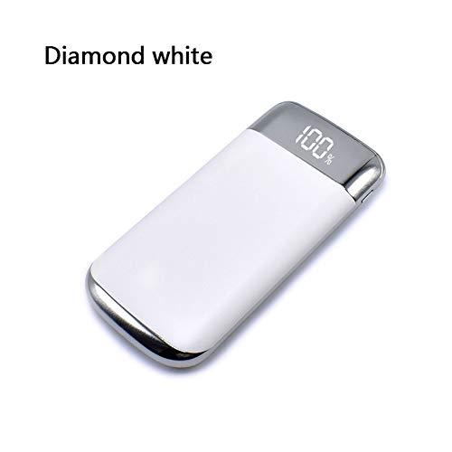 KCESLGVR Power Bank 30000Mah Power Bank 2 USB LCD Powerbank Tragbares Handy-Ladegerät Ladegerät Fällen für Android Ios, Weiß - Solarenergie-handy-fall