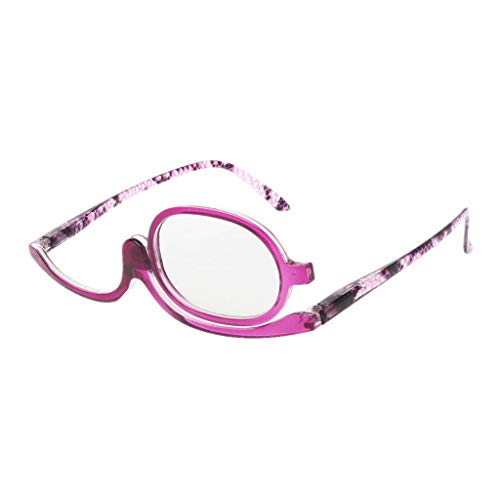 Fogun Lesebrillen,Damen Schminkbrille - Make up Brille,+1,5 +2,0 +2,5, 3,0,+3,5,+4,0 (3.0, Lila)