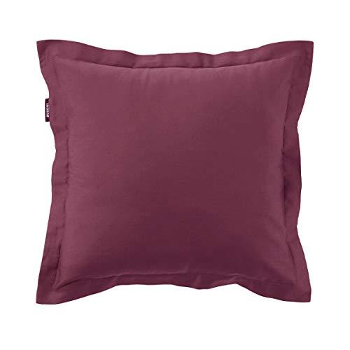 Copri cuscino arredo cm 40 x 40 zucchi easy chic con cerniera cuscini letto divano 100% raso sateen cm 40 x 40 (bordeaux col. 3145)