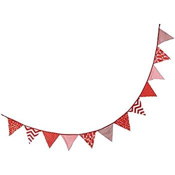 Daorier Sujet De Rouge Coloré Guirlande Bannière Banderole