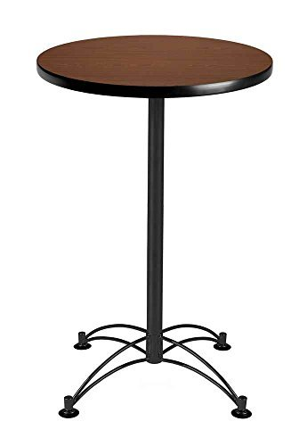 OFM CBLT24RD-CHY Round Cafe Table, Black Base, 24