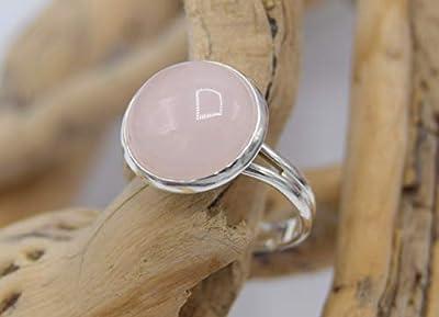 Bague quartz rose, bague AJUSTABLE en pierre de gemme