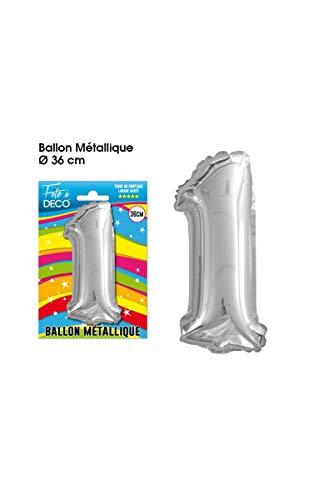 Ballon aluminium chiffre 1 35 cm