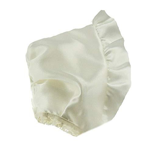 Taufe Motorhaube (Beautiful Baby Mädchen Jungen Satin Taufe Hochzeit Band Krawatte Motorhaube in Elfenbein oder weiß)