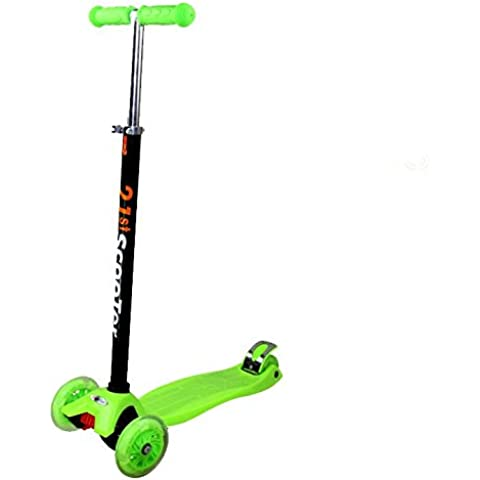 Tante Tina - Pasola / Patinete para niños con ruedas luminosas - De 3 ruedas - Verde