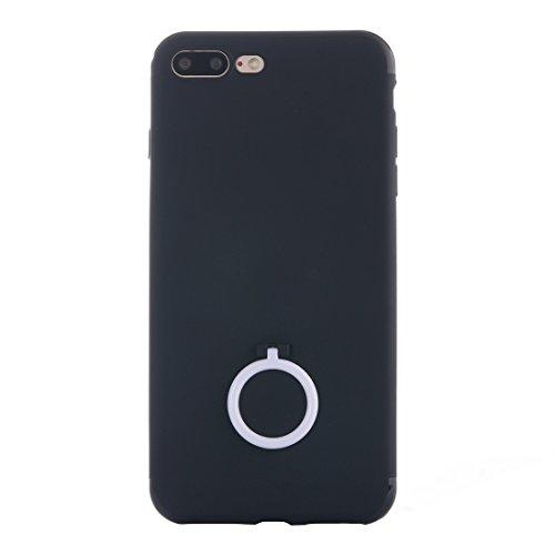 IPhone 7 Plus Fall Ultra dünner weicher TPU schützender rückseitiger Abdeckungs-Fall mit Ring-Halter-Standplatz für iPhone 7 Plus Fall by diebelleu ( Color : Gold ) White