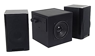 DTL SUB 2.1 Speaker System, 150 watt, Sub woofer amplified speaker, 3.5mm jack. Fits: Retro Music Centres, Novelty Nostalgic Audio, MP3 players, Computers, Jukeboxes, by Ricatech, Steepletone, etc by DTL by SXEY Electronics Ltd