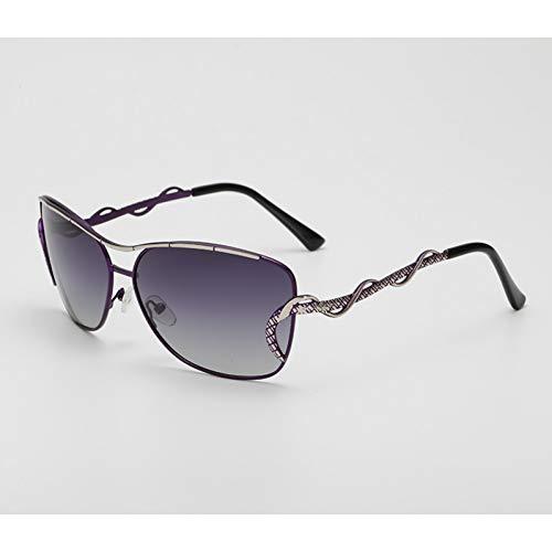 WZYMNTYJ Vintage Flat Top Sonnenbrille Frauen Retro Gothic Polarisierte Sonnenbrille Trend Damen Outdoor Persönlichkeit Frau