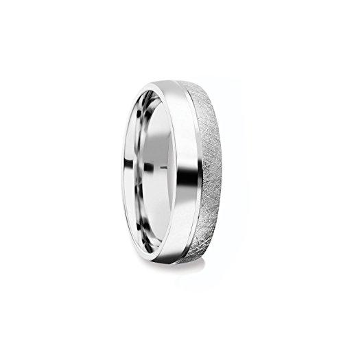 Herrenring Silber 925 Ehering Trauring Hochzeitsring Herren flach Verlobung Verlobungsring Herren Herr Freundschaftsring modern schlicht FF384 SS92560