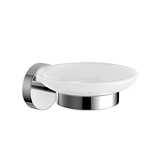 Modern Round Soap Dish Holder Chrome Wall Mounted Bathroom Accessory ACC108