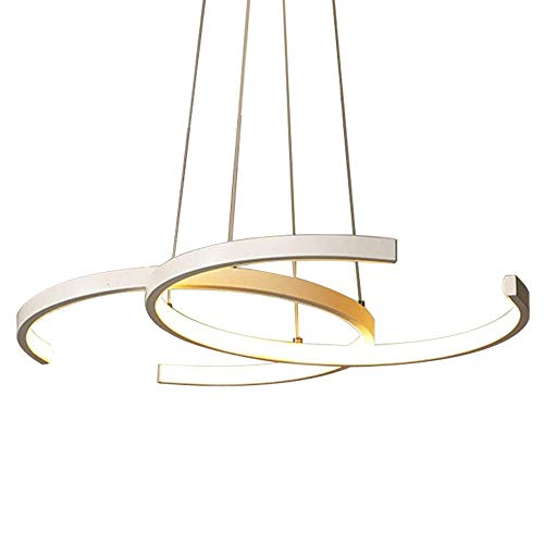 hte Esstisch Hängeleuchte 46W Küchen Insel Hängelampe Modern Landhaus Stil Acryl Lampenschirm Design Kronleuchter Wohnzimmer Deckenleuchte Esszimmer Lampe 65 x 45 x 3cm,3000K~6000K ()