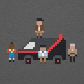 NERDO - The Pixel Team - Herren T-Shirt Grau