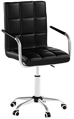 Yaheetech Bürostuhl Drehstuhl Schreibtischstuhl Hocker mit Rollen, Höhenverstellbar 48-62 cm Schwarz