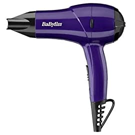 lightweight compact - 316Z8C0lNnL - BRAND NEW BABYLISS 1200W NANO LIGHTWEIGHT COMPACT MULTI VOLTAGE HAIR DRYER PURPLE