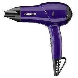 lightweight compact - 316Z8C0lNnL - Brand New BaByliss 1200W Nano Lightweight Compact Multi Voltage Hair Dryer Purple