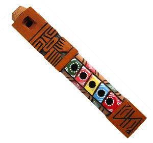 Geschnitztes Holz bunt Tarka Peruanerin handgemachte Flöten Deko - Fair Trade - DEUTSCHLANDWEIT KOSTENLOSER VERSAND
