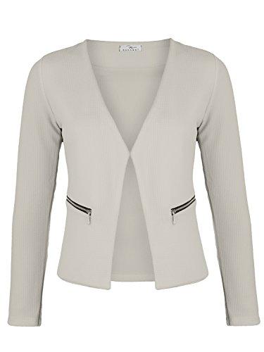 Damen Blazer mit Taschen ( 382 ), Farbe:Beige, Kostüme & Blazer für Damen:40 / L