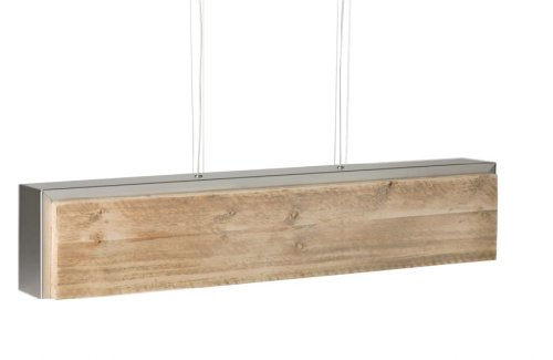 Bony Design Hängelampe Edelstahl mit Bauholz - 21 × 104 × 19