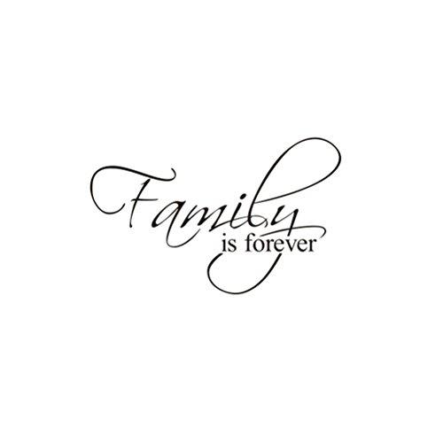 """Pegatina de Pared WINOMO """"Family Forever"""" Decorativos Frases Pared Letras Etiqueta de la Pared 37 x 60cm"""