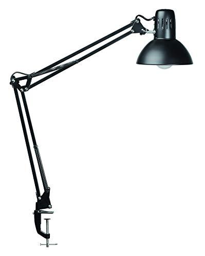 Maul LED Schreibtischlampe, Arbeitsplatz Leuchte, Klassiker, inklusiv LED-Leuchtmittel, mit Klemmfuß bis 5,5 cm Weite, schwarz 8201190
