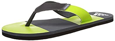 adidas Men's Jaso Stripe M Yellow, Dark Grey, Grey and White Flip-Flops and House Slippers - 9 UK
