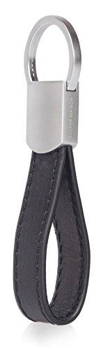 Schlüsselanhänger aus italienischem Leder mit 4 Ringen - Elegante Verpackung - Ohrhörer Halter inklusive - von Kasper Maison