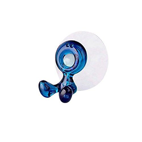 MA87 Neue Mode Home Bad Zahnbürste Saughalter Rack Wandhalterung Hang Ständer (Blau)