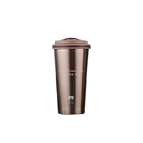 iBaste-Tasse thermos Café en Acier Inoxydable Hommes Femmes Vide Bureau Tasse Étudiant Portable Coupe Aspirateur