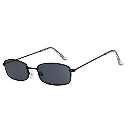 CCGSDJ Retro Vintage Kleine Rechteck Sonnenbrille Frauen Markendesigner Gläser Männer Brille Unisex Brillen Party Brillen