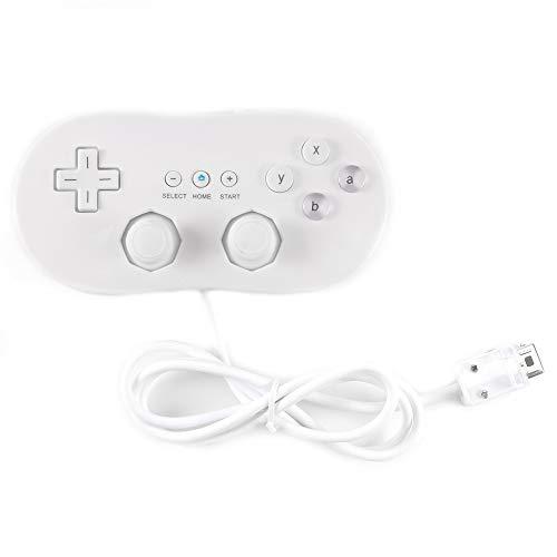 Verdelife Game Joystick, White Wired Classic Controller USB Game Joystick Gamepad Controller Maniglia Console remota Giochi video per Nintendo Wii Classic