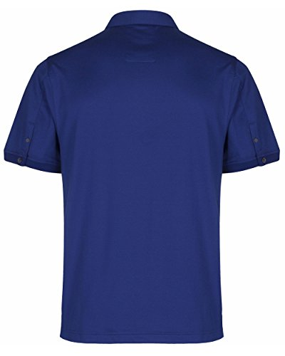 Luke 1977 Herren ALI Palis Klassisches Hemd Collar Polo Shirt Lux Blue