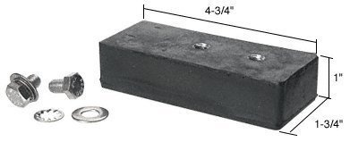 CRL 4-1/4 Baseplate Pad with Bolts by C.R. Laurence