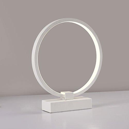 Hines Simple Moderne Blanc LED Lampe de Table Chaude Personnalité Chambre Chevet Nuit Lumière Lampe de Bureau Creative Décoration Étude Salon Luminosité Élevée Éclairage Table Lumineuse