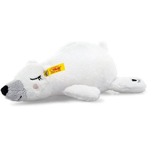 Steiff 241253 Soft Cuddly Friends Iggy Eisbär Plüsch liegend weiß/bunt 20 CM