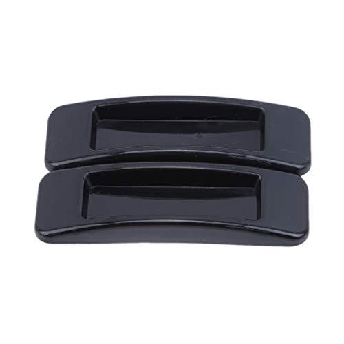 Pinhan - Tirador Autoadhesivo para Puertas correderas y armarios, plástico abs, Negro,...