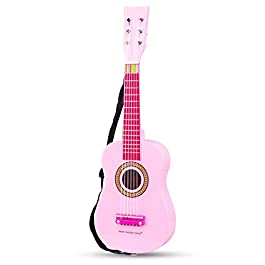 New Classic Toys Guitar-Pink, Colore, Rosa, 10345